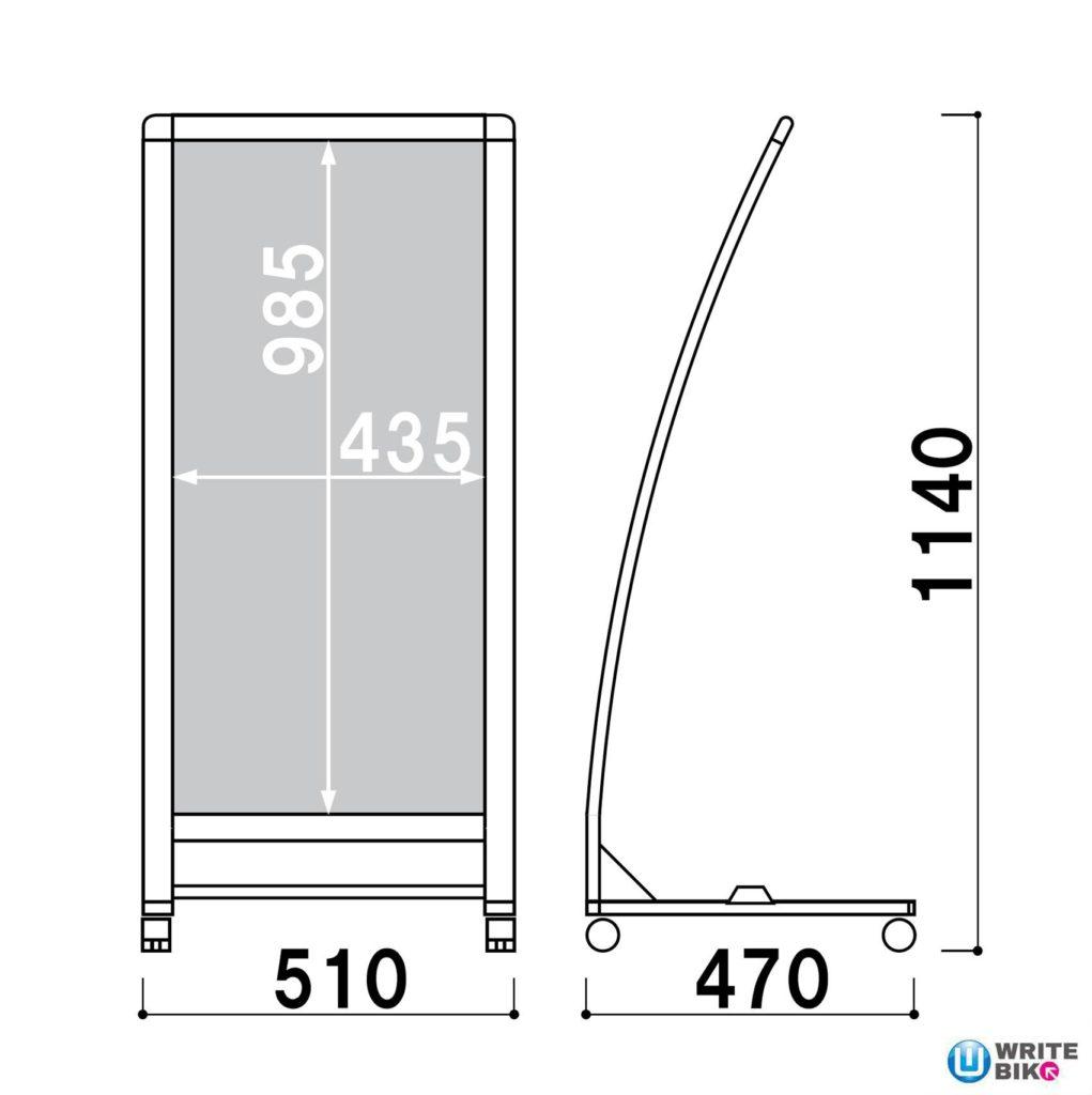 RXカーブサインのサイズ画像
