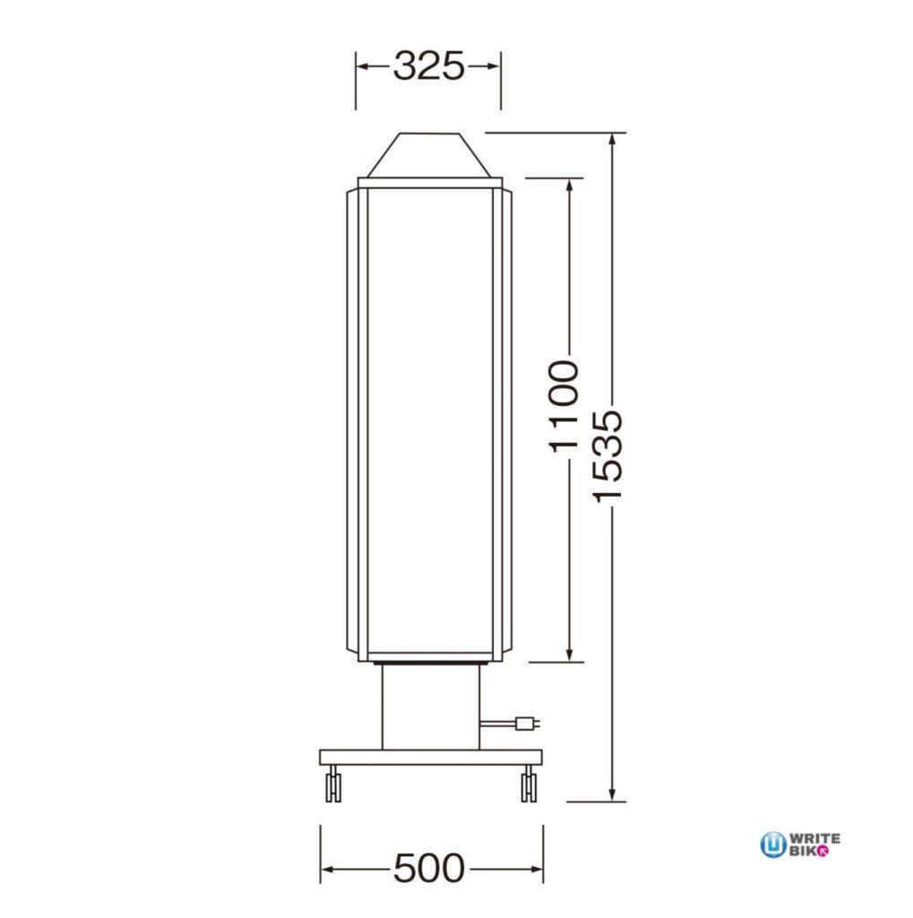 スタンド看板のロータリー型の140スリムロータリー(回転灯付)