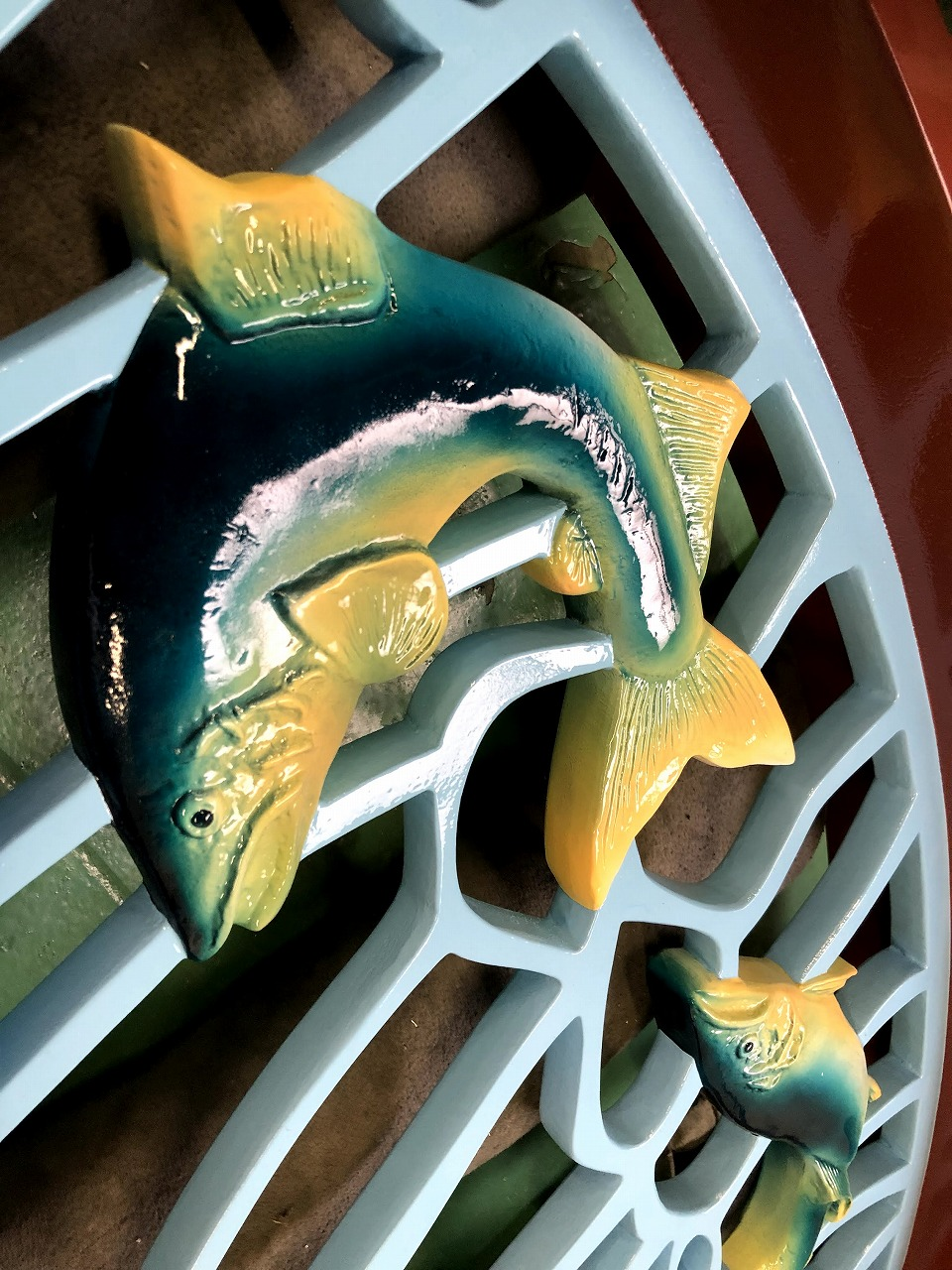 鮎の橋の欄干(鋳物加工)